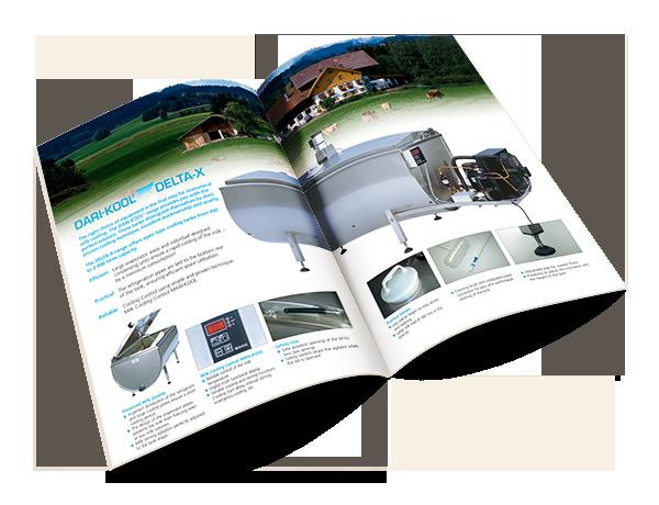 """Grafikdesign Beispiel Produktbroschüre """"Delta-X"""" Firma Fabdec Ltd."""