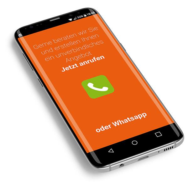 Responsive Webdesign - Mobiltelefon
