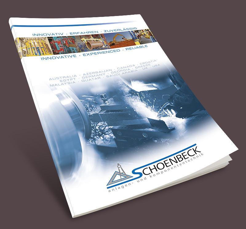 Grafikdesign Beispiel Imagebroschüre Firma Schoenbeck