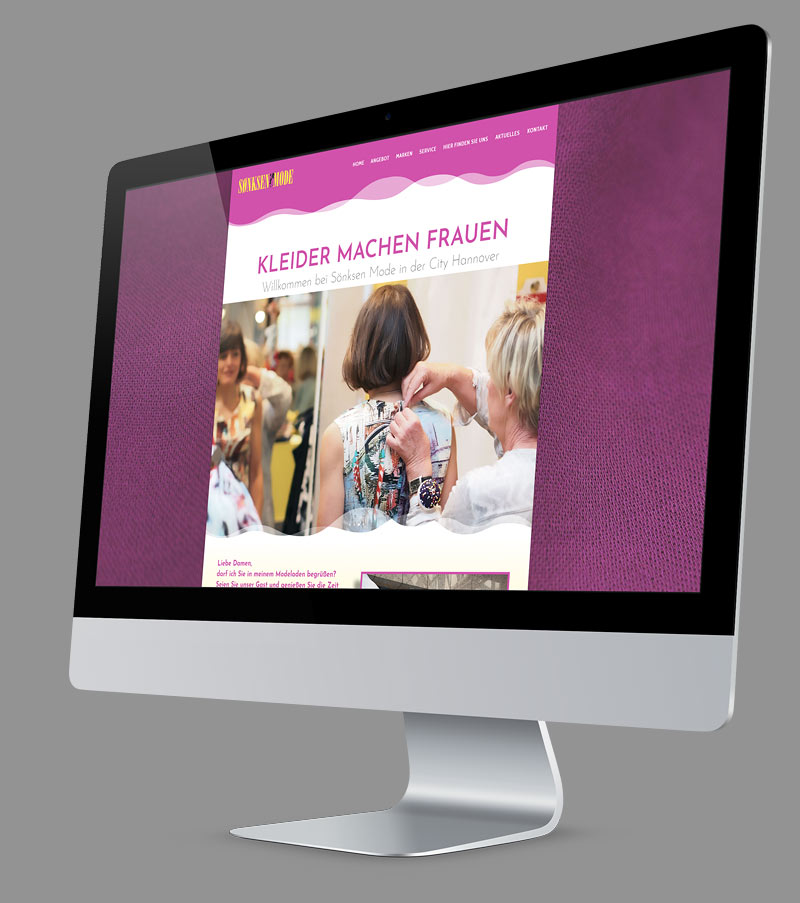 Webdesign - Responsive Website für Sönksen Mode Hannover