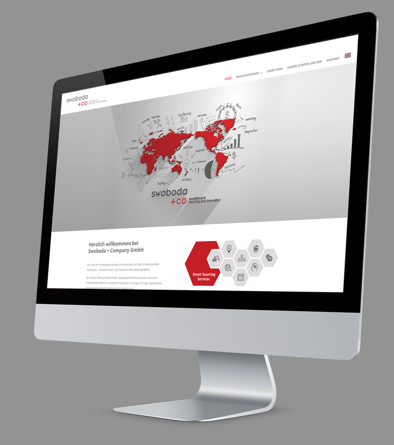 Webdesign - Responsive Website für Swoboda + Company GmbH