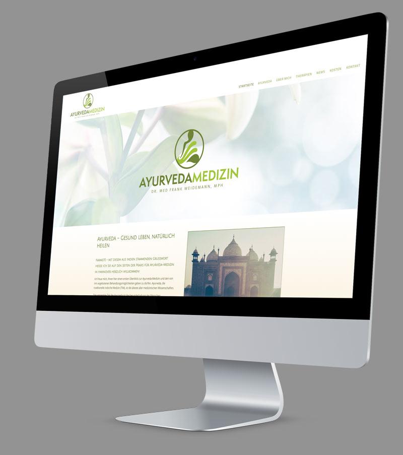 Webdesign - Responsive Website für Praxis für Ayurveda-Medizin Dr. Weidemann