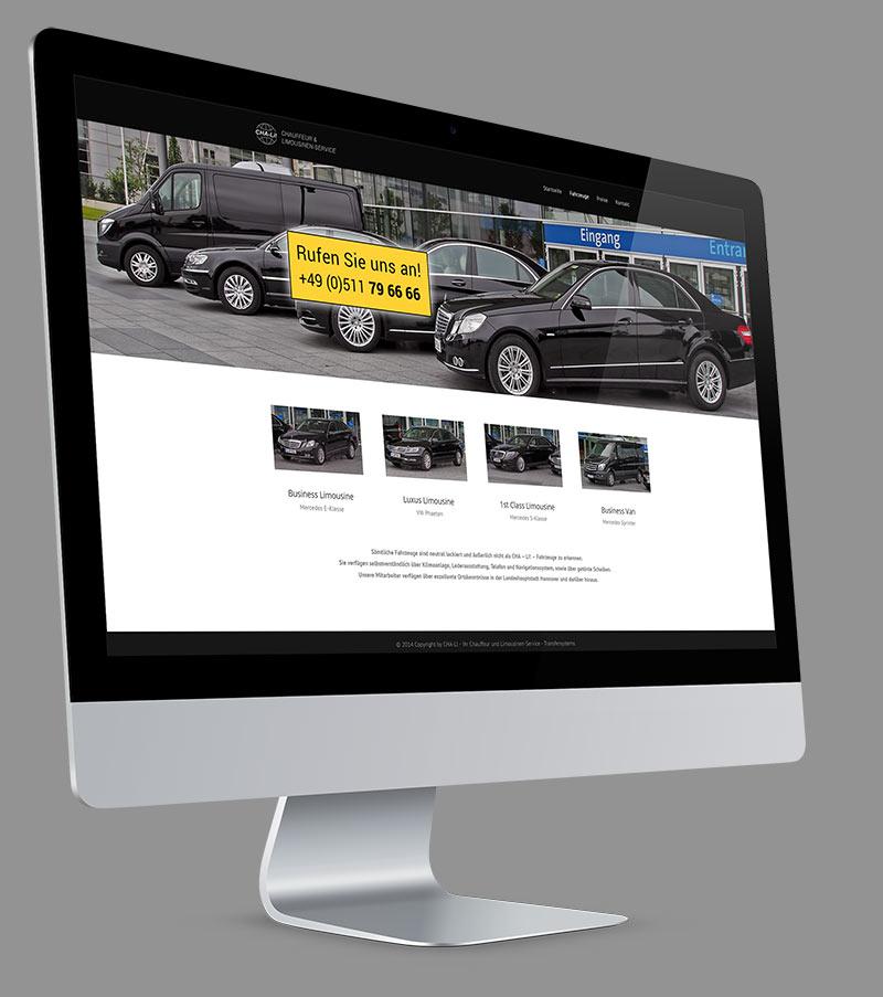 Webdesign - Responsive Website für Limousinenservice CHA-LI!.