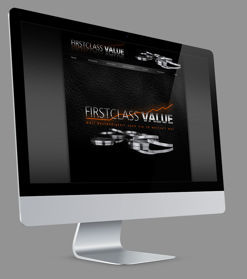 Webdesign - Website für Firstclass-Value