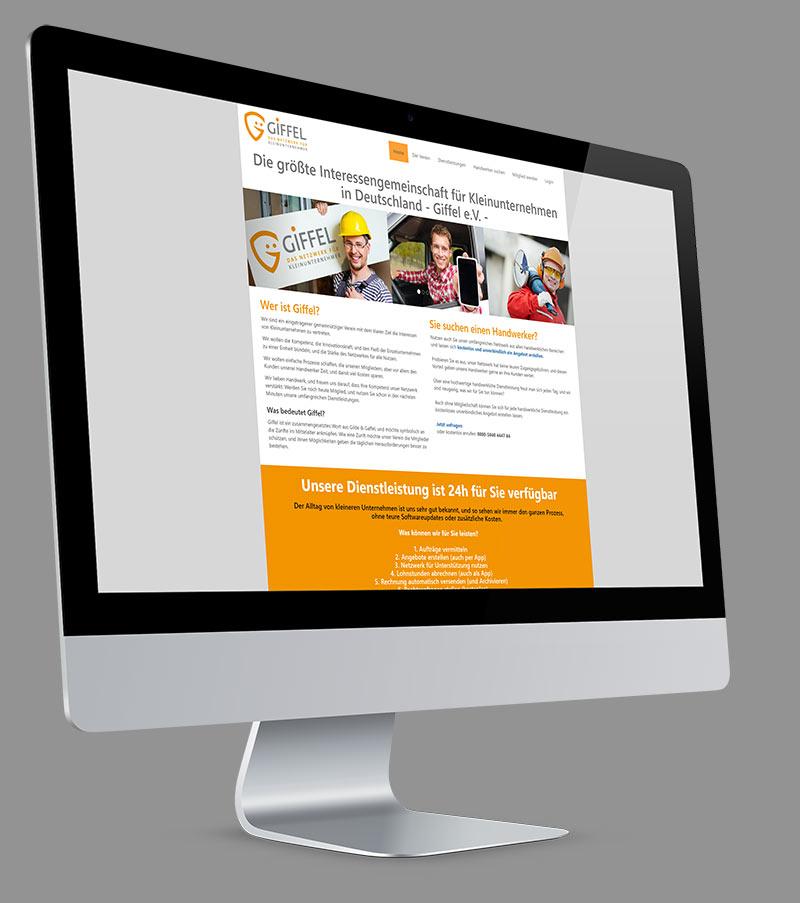 Webdesign - Responsive Website für Netzwerk für Kleinunternehmer Giffel e.V.