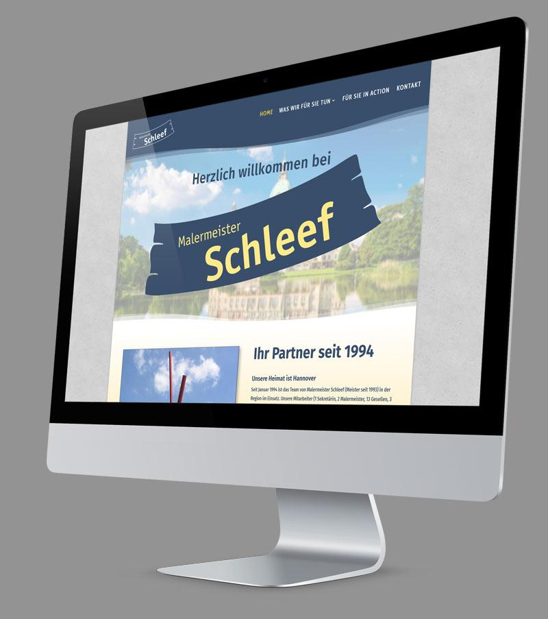 Webdesign - Responsive Website für Malermeister Schleef