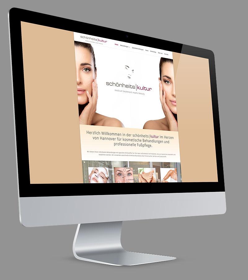 Webdesign - Responsive Website für Schoenheitskultur Hannover
