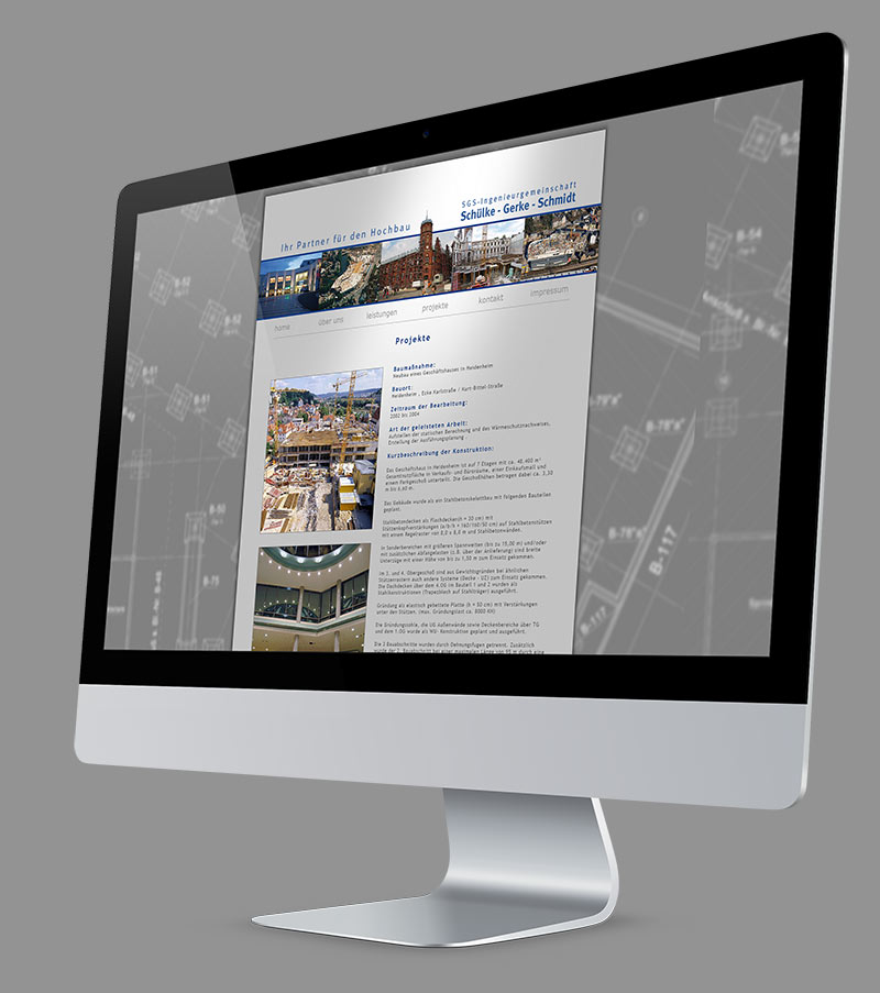 Webdesign - Website für SGS Bauingenieure