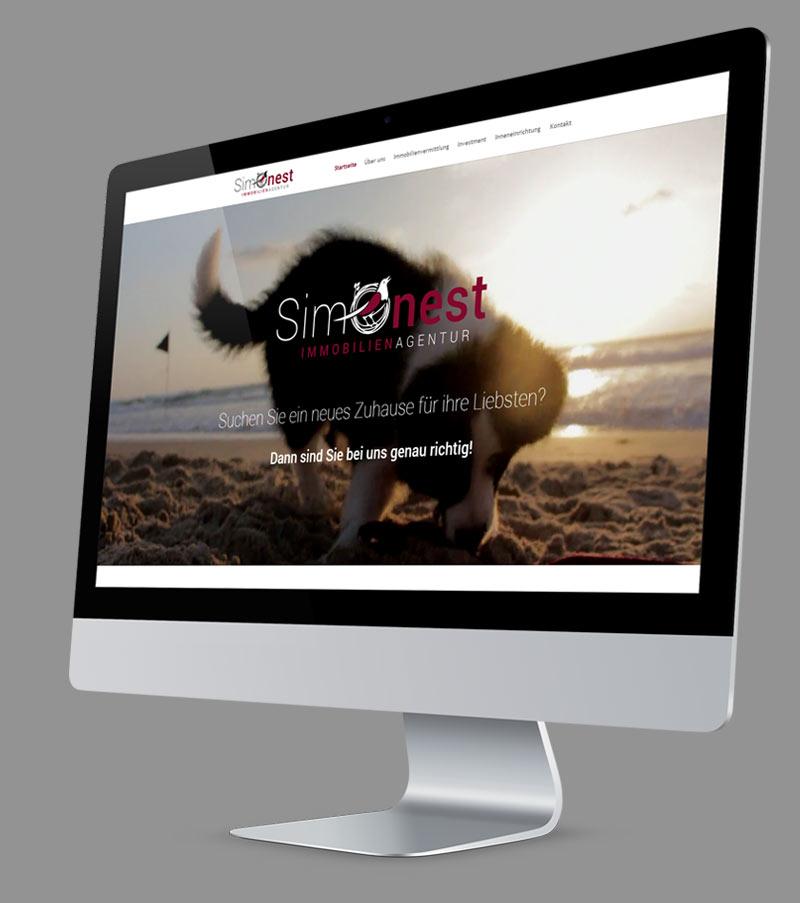 Webdesign - Responsive Website für Simonest Immobilien Agentur