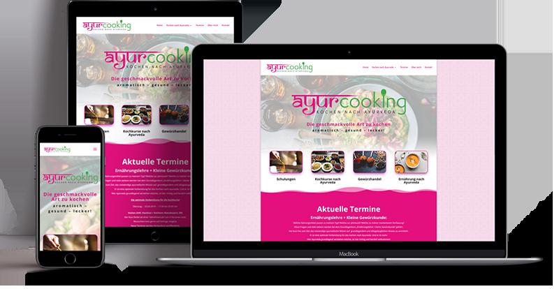 Webdesign - Responsive Website für Ayurcooking