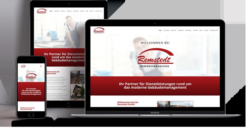 Webdesign - Responsive Website für Remstedt GmbH