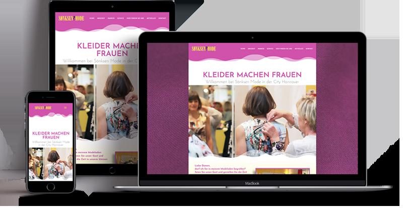 Webdesign - Responsive Website für Sönksen Mode Hannover